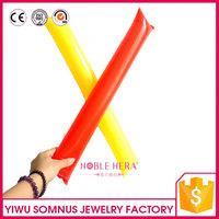 PE Customized inflatable cheering stick / ballon stick / led thunder stick J104