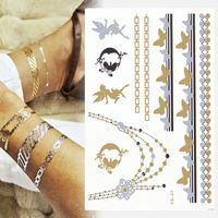 High Quality Gold Foil Tattoo Long Lasting Metallic Tattoo Flash Tattoo Artist