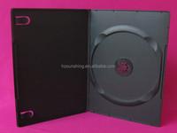 7mm PP single double disc dvd case transparent black