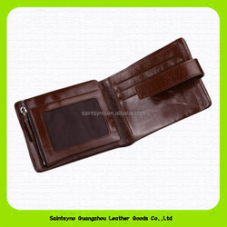15627B Best sell good quality customized men tri fold slim leather wallet