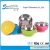 Lovable and Creative High Quality 4-color Stainless Steel and Plastic Bowl for Children