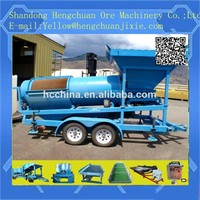 China small mine manufacturer Mobile gold trommel refining machine