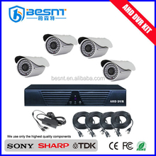 Hot new products for 2015 Mobile monitoring D1 H.264 4ch AHD camera set BS-T04AD2