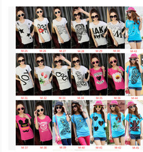 Stock clothing inventory clearance Comfortable modal 2015 summer women new bat sleeve short sleeve T-shirt wholesale price whole