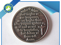 Custom religious Antique silver Christ Jesus saint coins