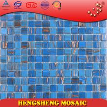 Mesh Back Blue Golden Line Cheap price for Mosaic Tiles