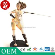 Acción japonesa sexy desnuda pvc figuras, venta al por mayor de encargo pvc figuras de acción con fresco espada,