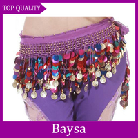 More Coins Professional Belly Dance Hip Scarf sexy dance hip scarf BD-151