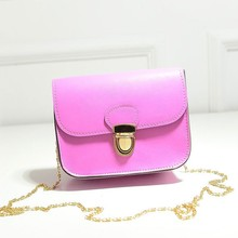 B427 New retro chain PU ladies students one shoulder inclined shoulder bag