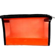Orange Color China Supplier Fashion Women Vinyl Eyebrow Pencil Bag