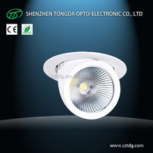 8' ' 40W 45W 50W fully adjustable COB recessed led downlight (Factory Price!)