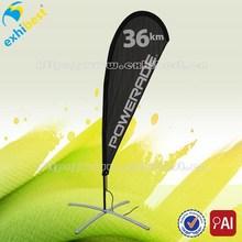 custom advertising cheap beach flag with teardrop style for sale