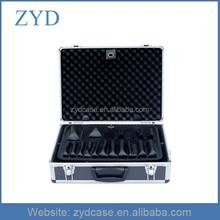 Aluminium tools storage case lockable latches metal suitcase tool box, ZYD-SY156