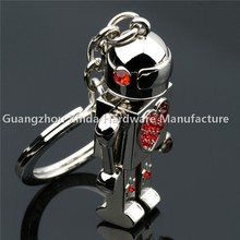 2015 factory make fashion gift customized Metal robot keychain ,Red Heart Shape Robit Keyring
