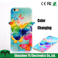 fashion color changing cell phone case for iphone 6 plus