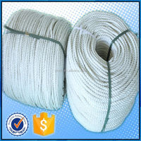 High tensile flat braided rope nylon braided cord fishing