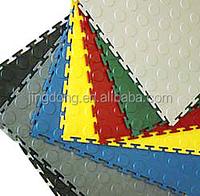 Interlocking Studded Rubber Tile/PVC lock floor