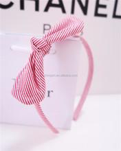 Fashionable Comfortable Stripe Print Bow Headband Hair Accessories for Girls