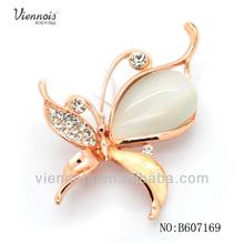 2013 Newest design butterfly cat's eye metal brooch