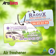China factory absorbent tin shape paper air freshener for car
