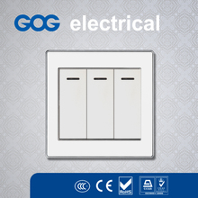 PC base aluminium/stainless wall switch socket fabric small bag packed blank export carton packing bs wall switches and sockets