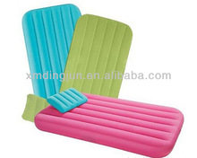 Kids inflatable air bed, comforatable kids air beds, colorful air filled mattress for children