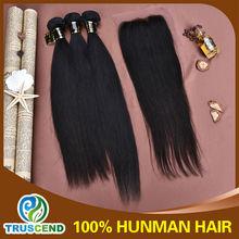 Truscend Hair Virgin Human Hiar Weft Silke Straight Top Grade Brazilian Virgin Hair