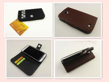 Luxury crystal leather case for SamSung galaxy S4 i9500 with slots wallet cover for galaxy S4