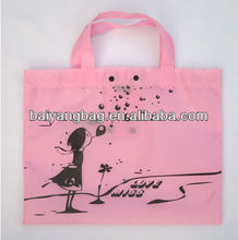 Pink cotton foldable eco-friendly shopping bag