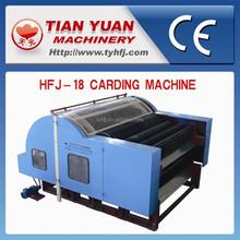 Hfj-18 la máquina de cardado para algodón, hilado de lana máquina