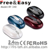 2015 Latest Mini Cool Design Smallest Wireless Mouse rf2.4g with different colors