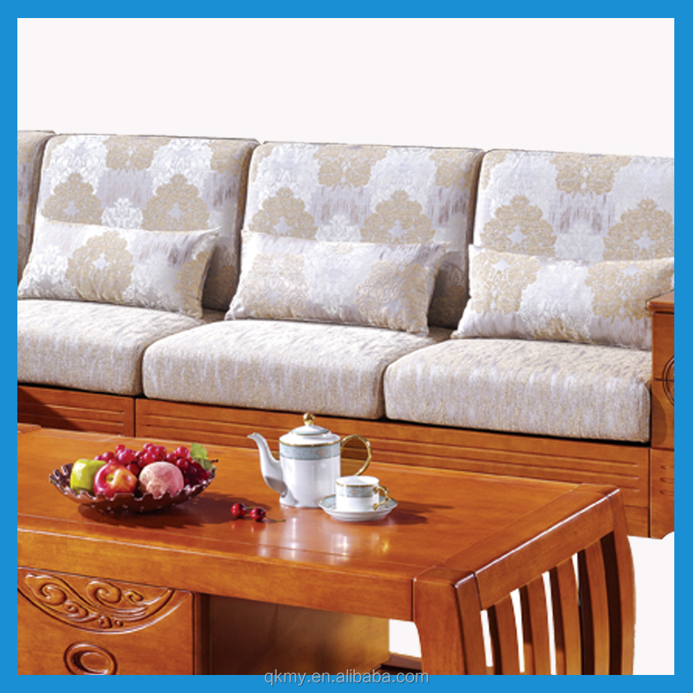 High quality living room furniture solid wood corner sofa cum bed