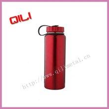 800ml de aceroinoxidable de color rojo botella de los deportes