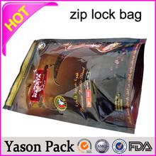 Yason leakproof ziplock bags for extra freshness shinning white blue red ziplock standup bottom gusset 3 mil ldpe zipper bag/tr