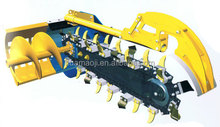 mini farm loader matched ditch trencher