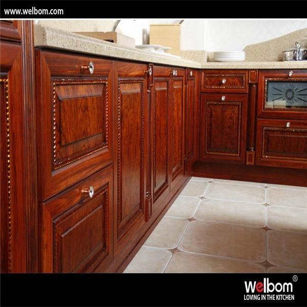 [ Welbom ]hot Sale Luxury Rosewood Kitchen Cabinet