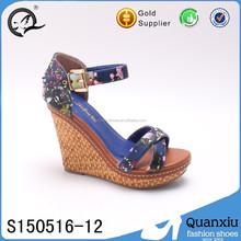 wholesale hot selling ladies sandals wedges