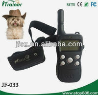 Remote training and beeper dog shock collar JF-033A dog training stick