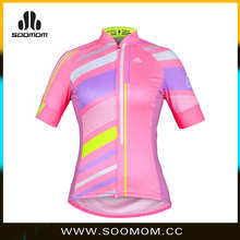 Pink neon color cycling jersey women cycling jersey 2014 team