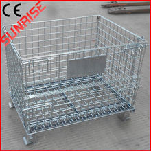 foldable galvanized wire mesh basket container