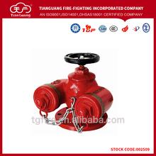 Súper ventas siamés conexión o de conexión de acoplamiento en la boca de incendios con francés