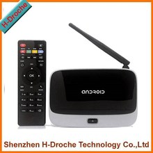 XBMC Quad Core Android 4.4 TV Box Full HD CS918 Q7 RK3188T Media Player 2GB/8GB 1080p Wifi Antenna with Remote Control Receivers