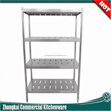 heavy weight 4 layers stainless steel supermarket shelves