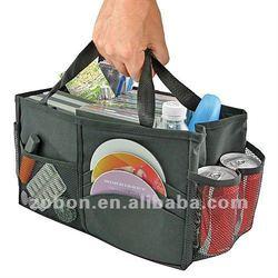 polyester Auto console organizer storage bag organizer for car
