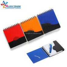 Wholesale corporate mini PP notebook with pen,fold closure
