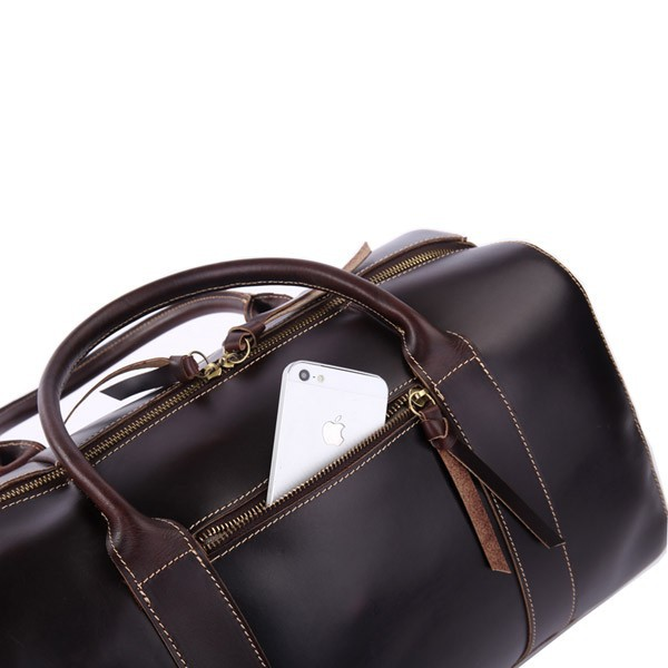 High Quality Hot Sale Drop Shipping Top Grade Multifunctional Fashion Larger Mens Leather Travel Bag #7165Q