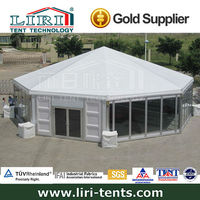 big Octagonal event Tent with clear span