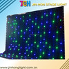 Beautiful customize size rgbw led light black curtain