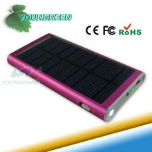 RoHS Solar Cell Phone Charger with LED Flashlight