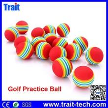 High Quality! Rainbow Color Indoor Sponge Foam Golf Practice Ball